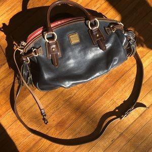 Dooney & Bourke dark navy blue satchel like-new